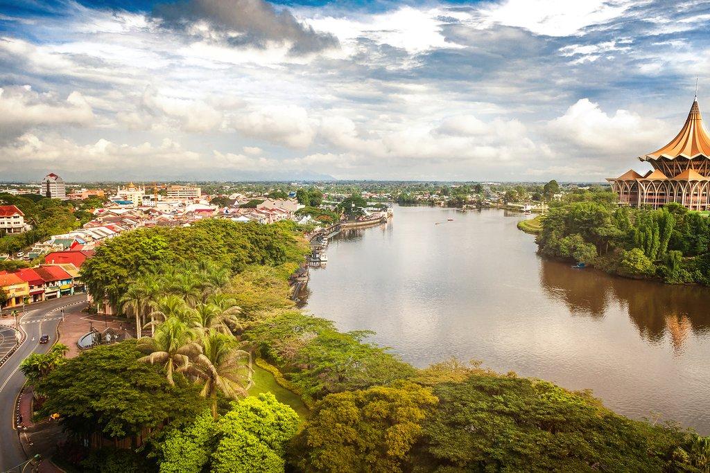 Panoramic view of Kuching