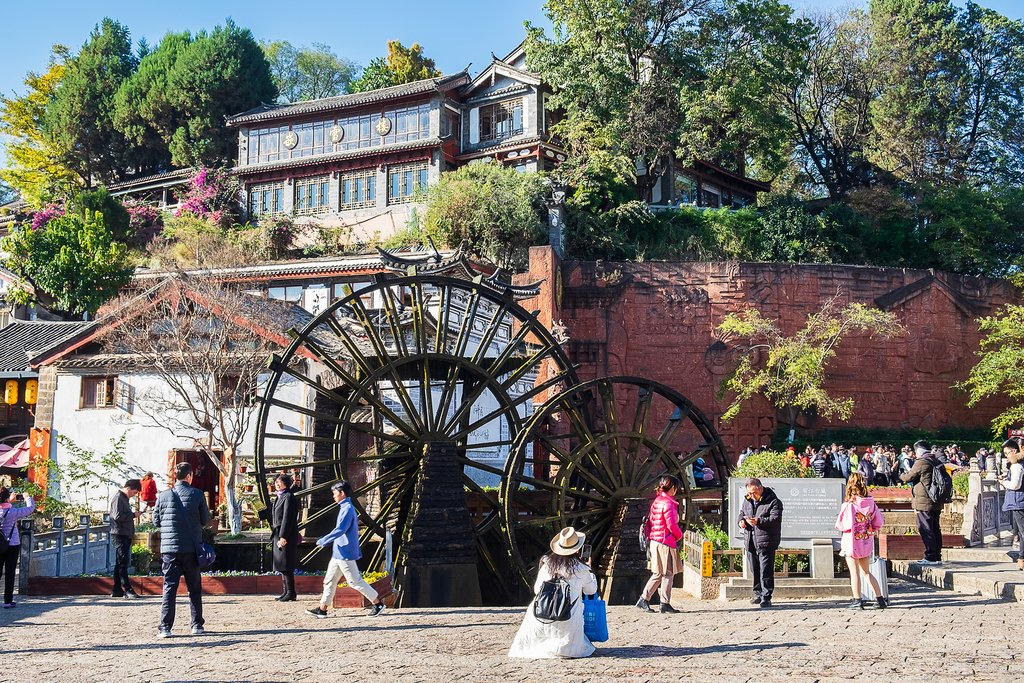 Watermill in Lijiang's Old Town