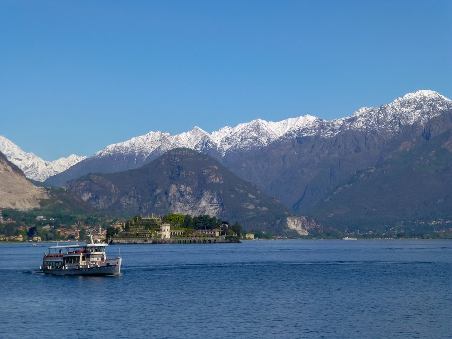 Tourist boat on Lake Maggiore