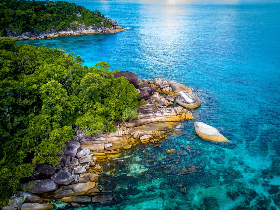 Turquoise water in Myeik Island