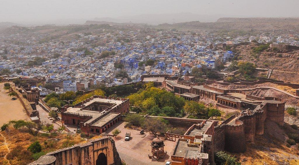 Enjoy the beautiful views of Jodhpur from Mehrangarh Fort
