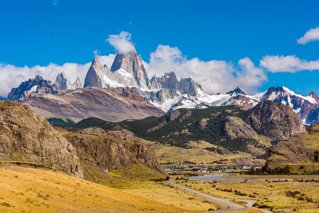 View of Mt. Fitz Roy over El Chalten