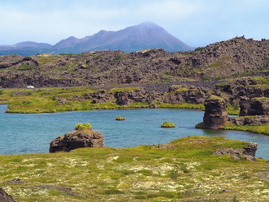 Lave formations around Lake Myvatn