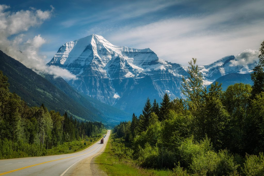 Approaching Mount Robson Provincial Park