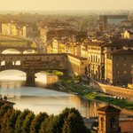 Ponte Vecchio and Florence skyline