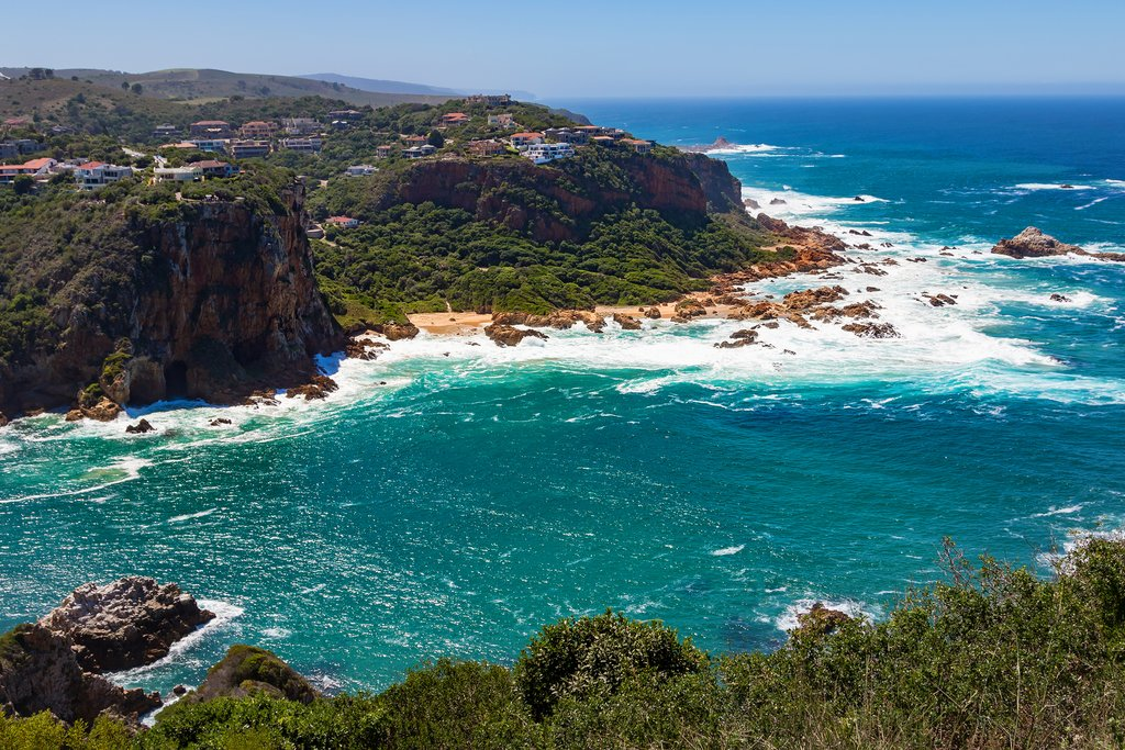 A view of Knysna from Featherbed Nature Reserve
