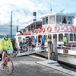 Bikes and Ferry on Garda Lake
