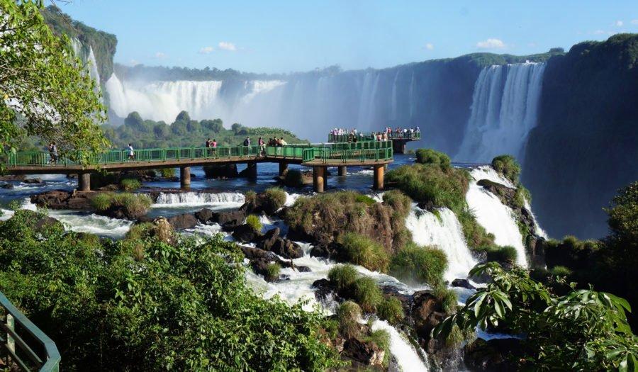 Enjoy the panoramic views on the Brazilian side