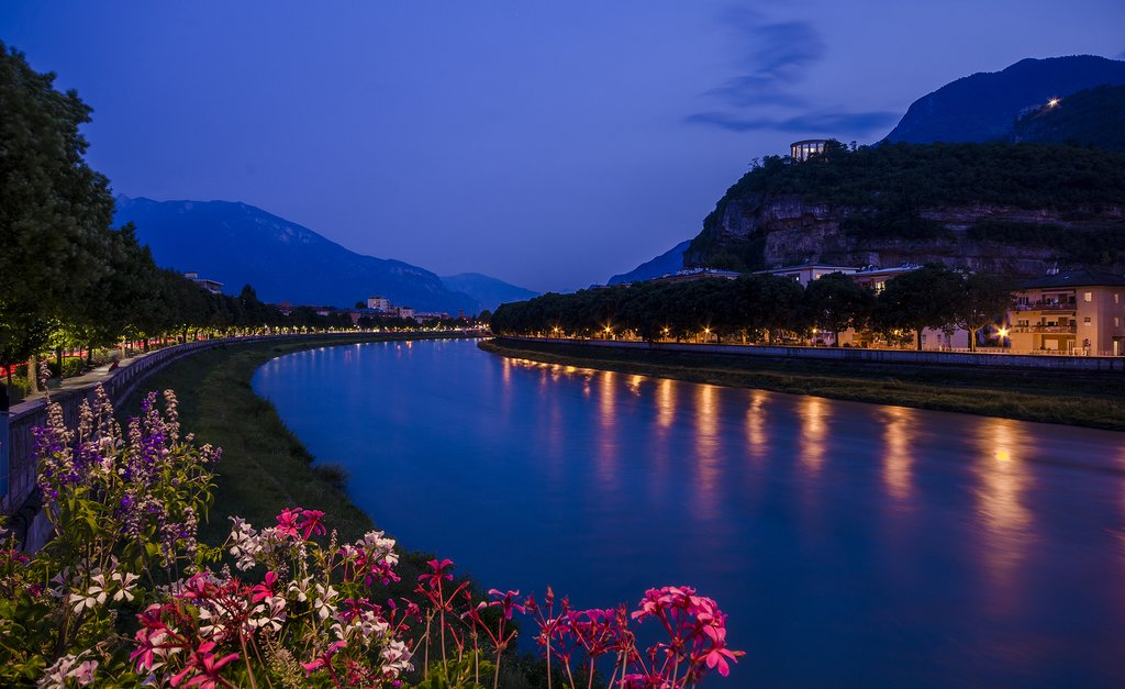 Evening View of Trento, Italy