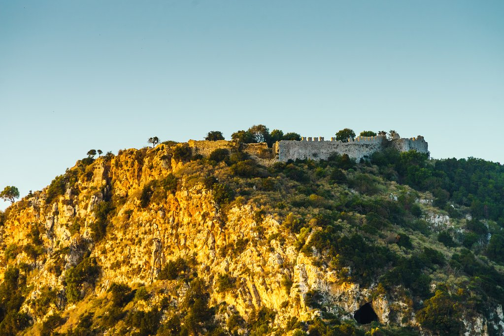 Hillside Views of the Castle in Pylos