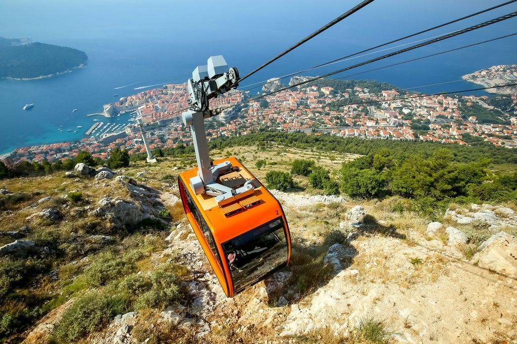Take a cable car up Srđ Mountain