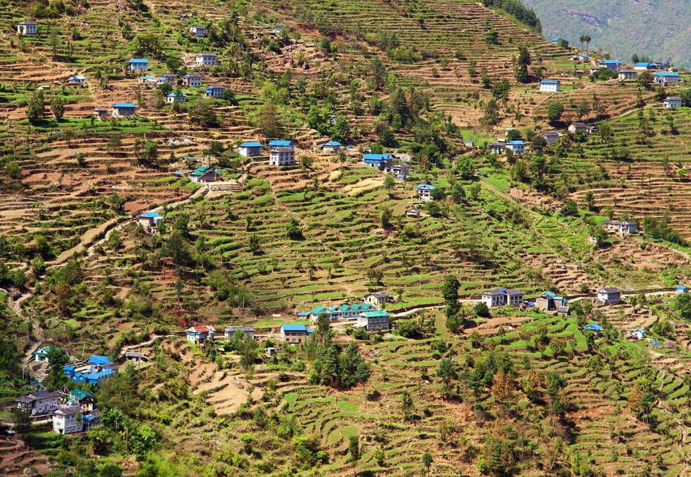 Village of Kharikhola, en route from Jiri to Lukla