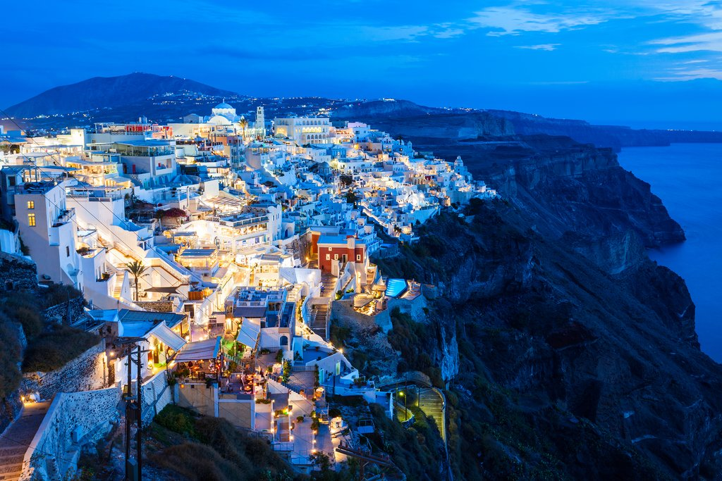 Fira Town in Santorini, Greece
