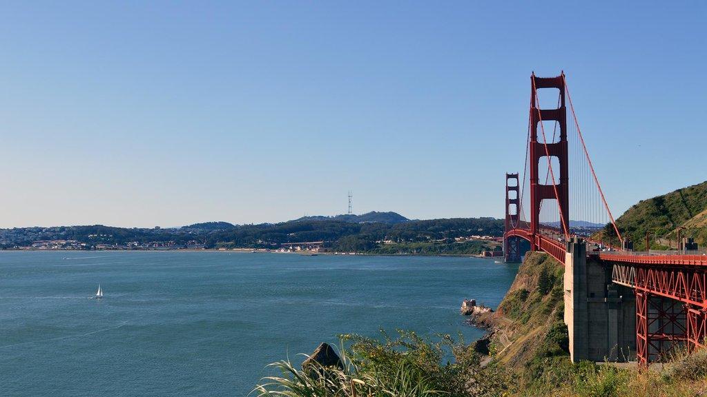 Cross the Golden Gate Bridge en route to Petaluma