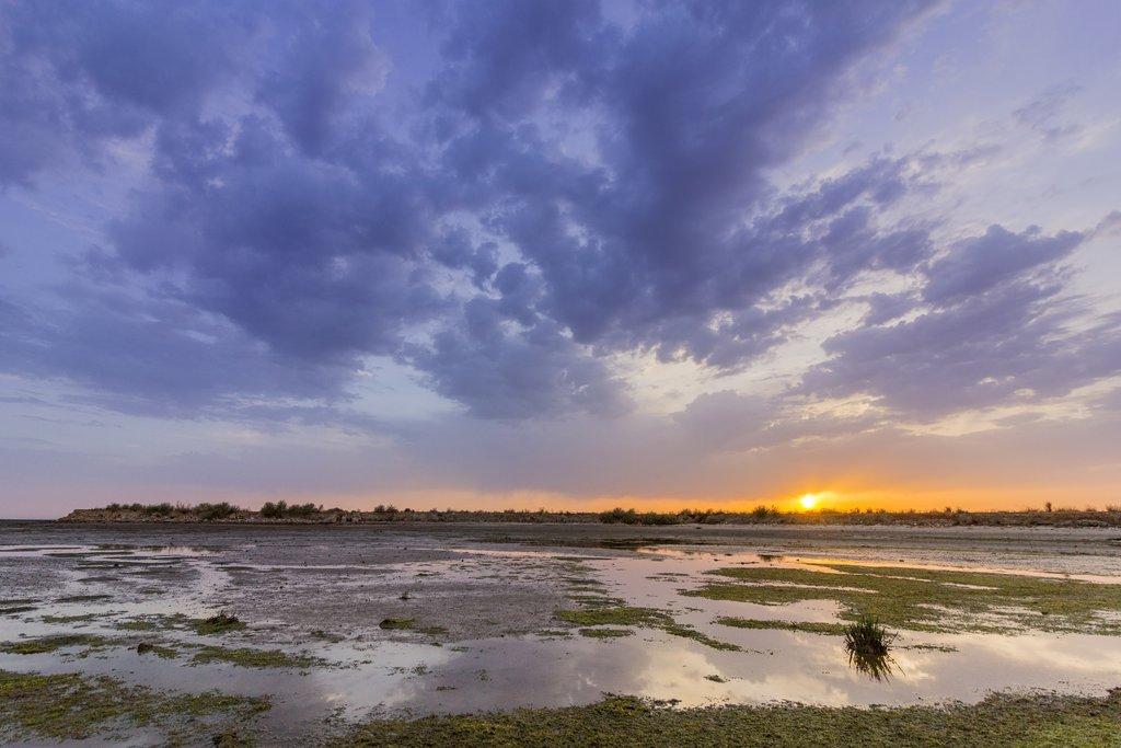 Olhao salt marsh inlet