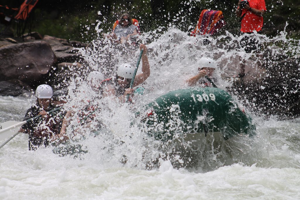 White water rafting in Ayung River