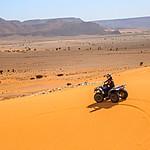 ATV riding on the sand dunes