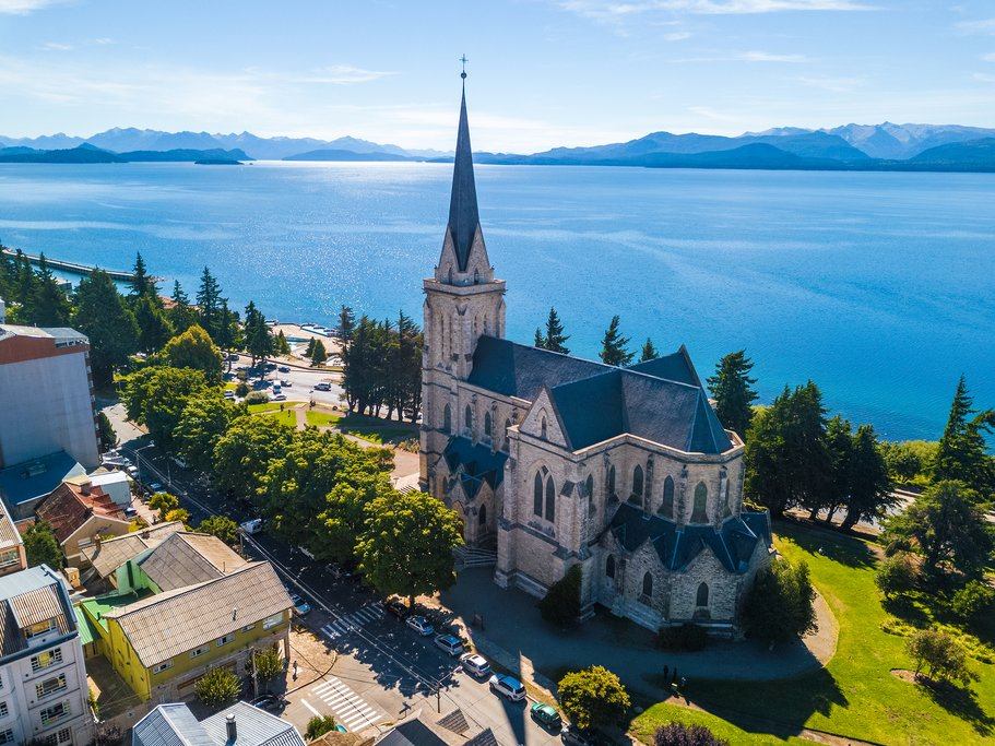 Aerial view of Bariloche