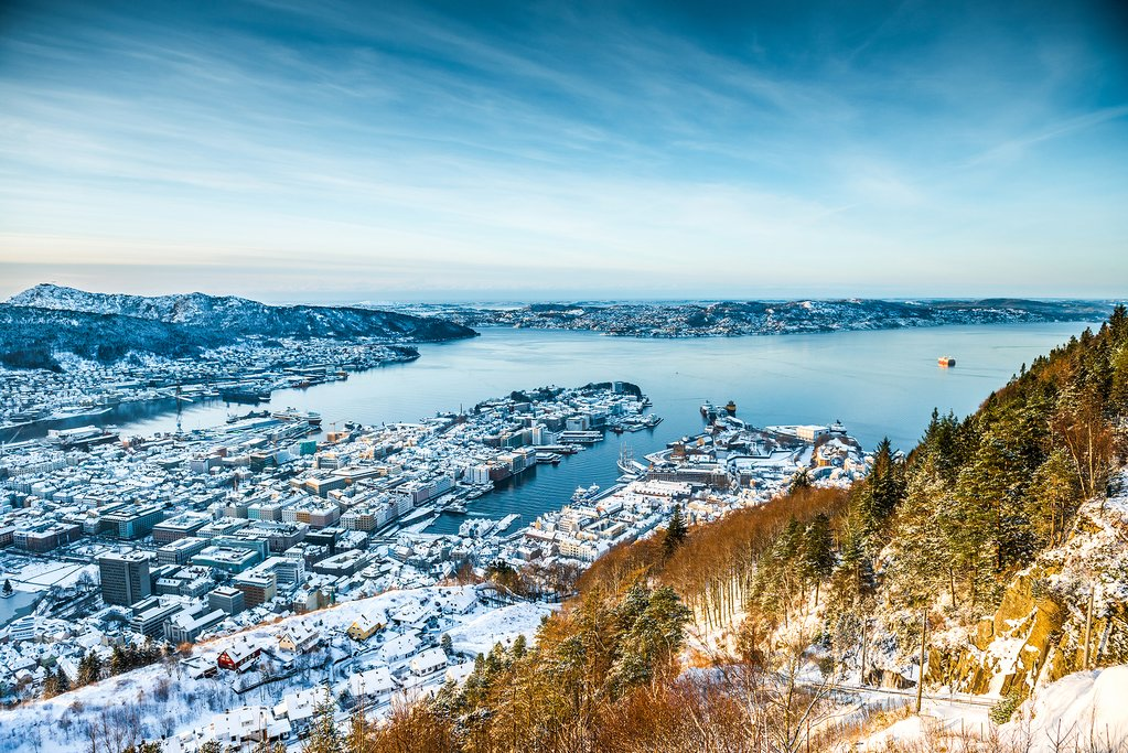 Winter views across Bergen.