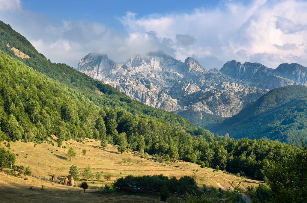 Mountains in the Albanian Alps