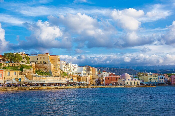 The Colorful Harbor of Chania, Crete