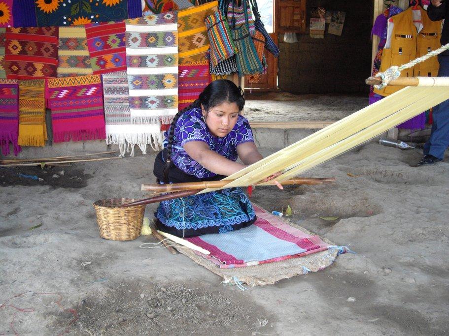 Embroidery in Zinacantan, Mexico