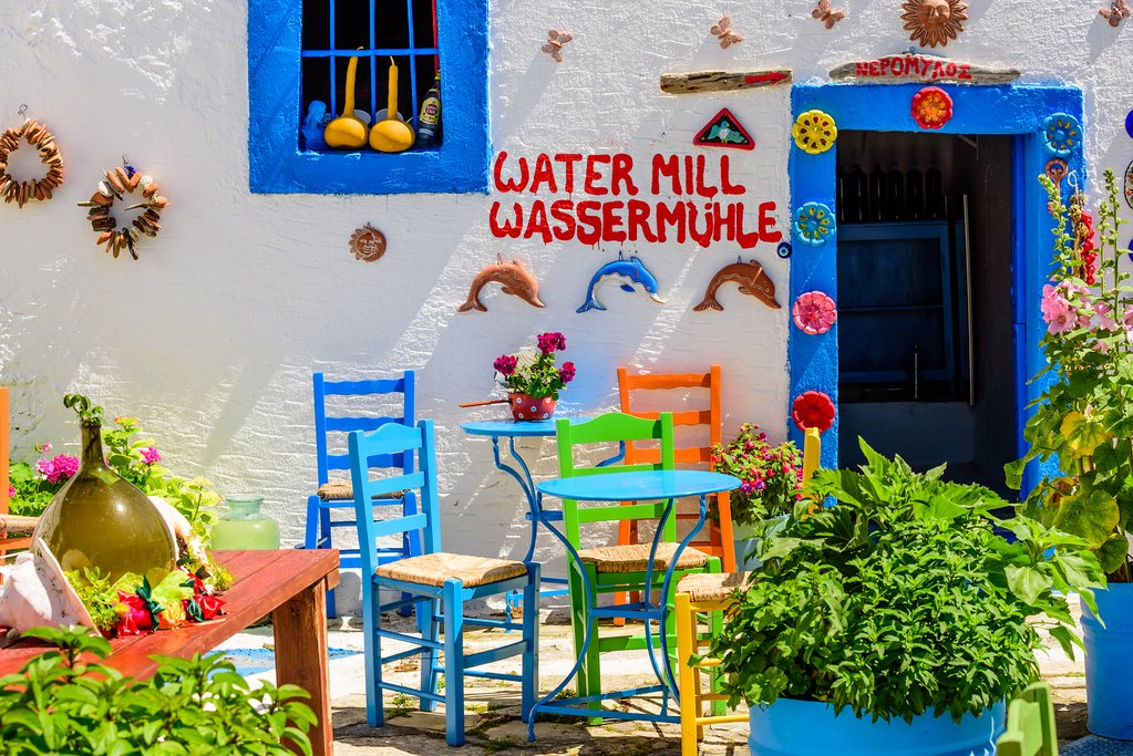Colorful restaurant on Kos Island