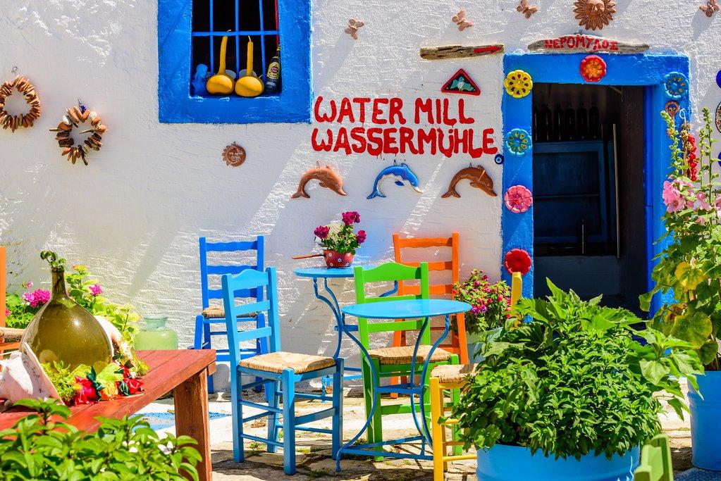 Colorful restaurant on Kos Island