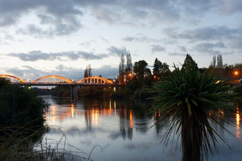 New Zealand - Waikato river near Fairfield Bridge, Hamilton