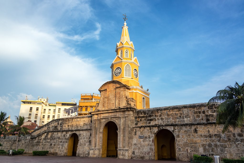 The main gate of Cartagena's Old Walled City