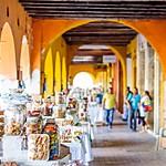 The Portal de los Dulces, an outdoor sweets market