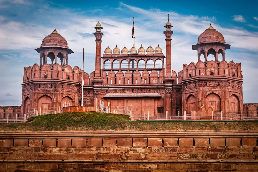 Catch a glimpse of the Red Fort as we explore Old Delhi