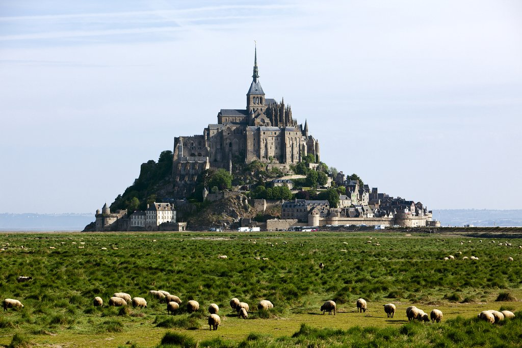 The famed Mont-St-Michel, seen from a distance