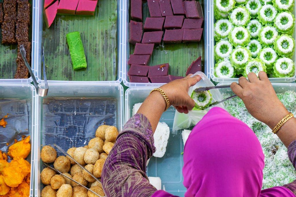 Local treats at Kota Kinabalu market