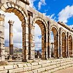 Impressive Roman Ruins are still standing at Volubilis