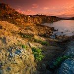 Rugged coastline of the island of Rab