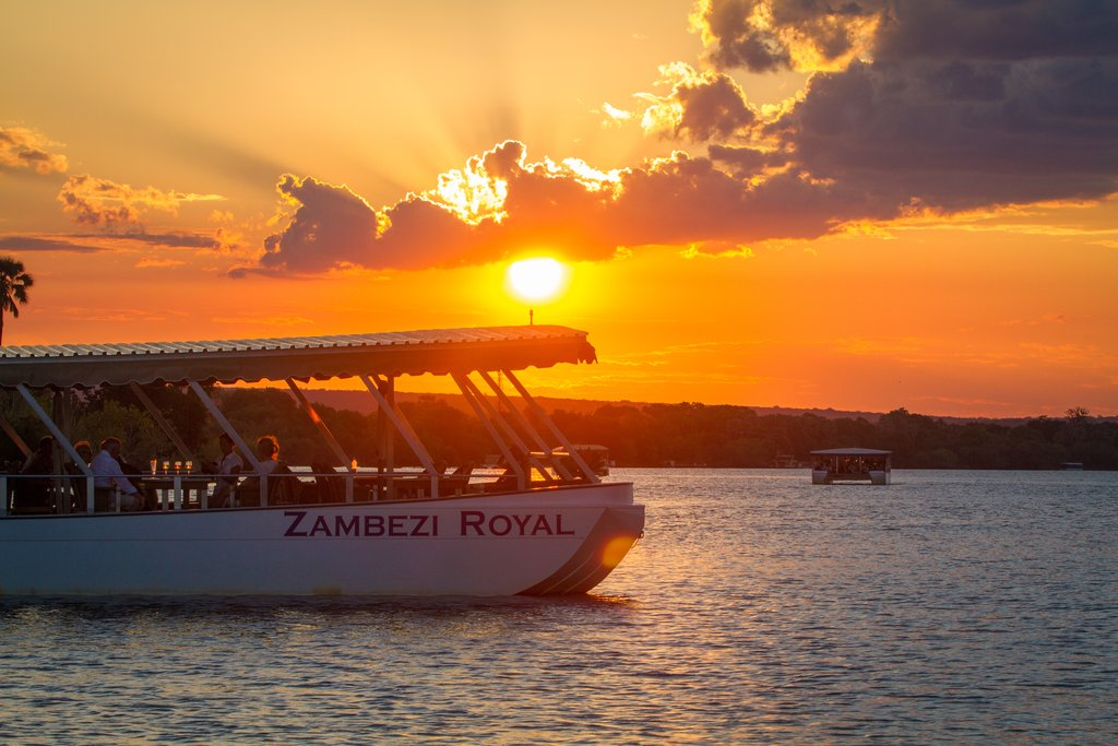 Enjoy a sunset Cruise on the Zambezi River