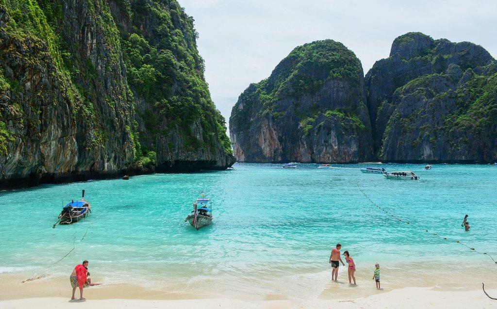 A peaceful beach on Phuket, Thailand