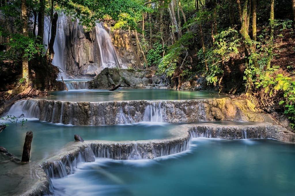Go for a swim in Matajitu waterfall on Moyo Island