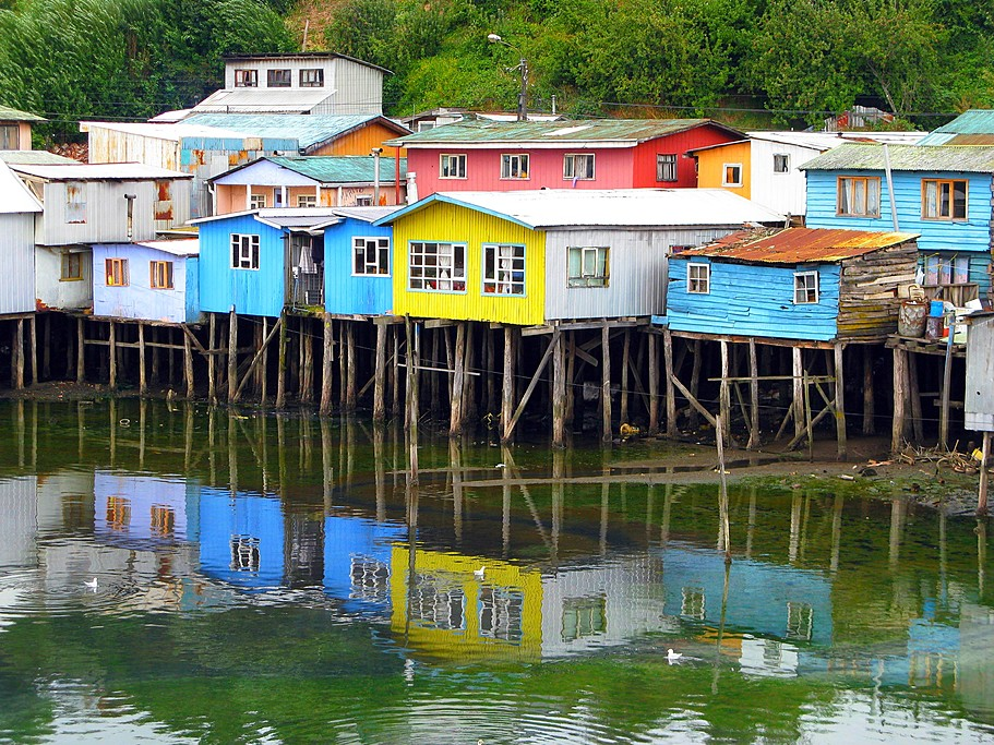 Palafitos de Gamboa in Castro, Chiloé