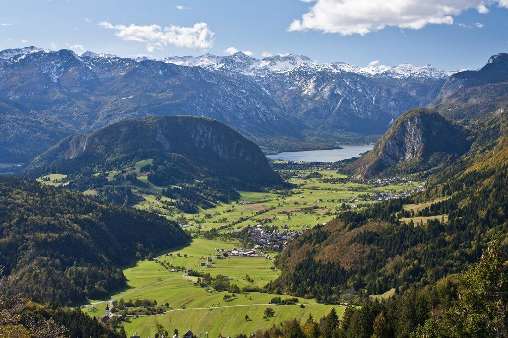 the glacial valley