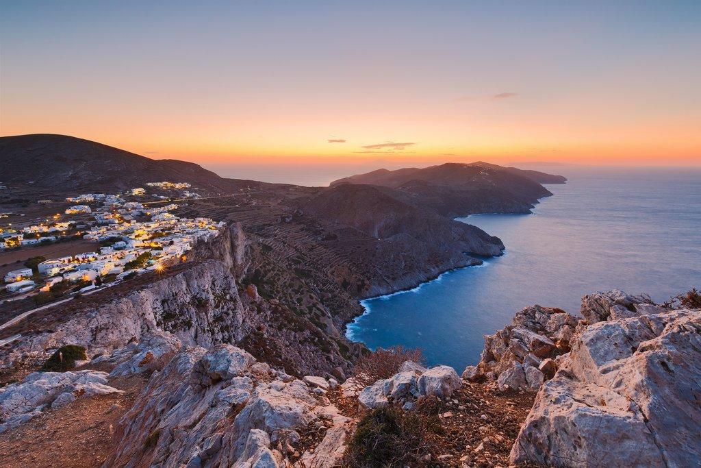 Rocky Coastline of Folegandros, Greece