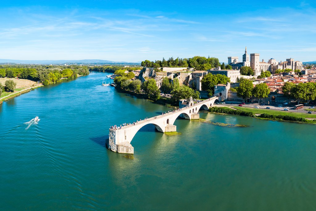 The famous Pont d'Avignon, Avignon, France