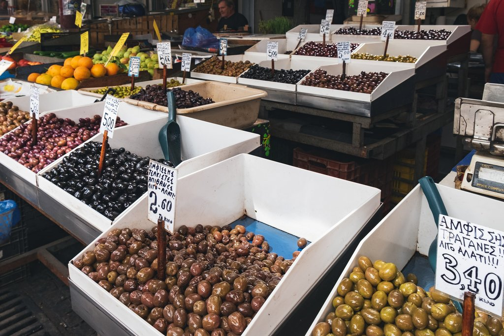 Olives at market
