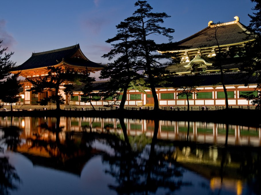 Todai-ji Temple at Night, Nara