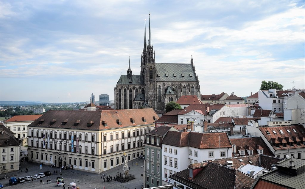 Brno's Old Town with the Cathedral of St. Peter and Paul