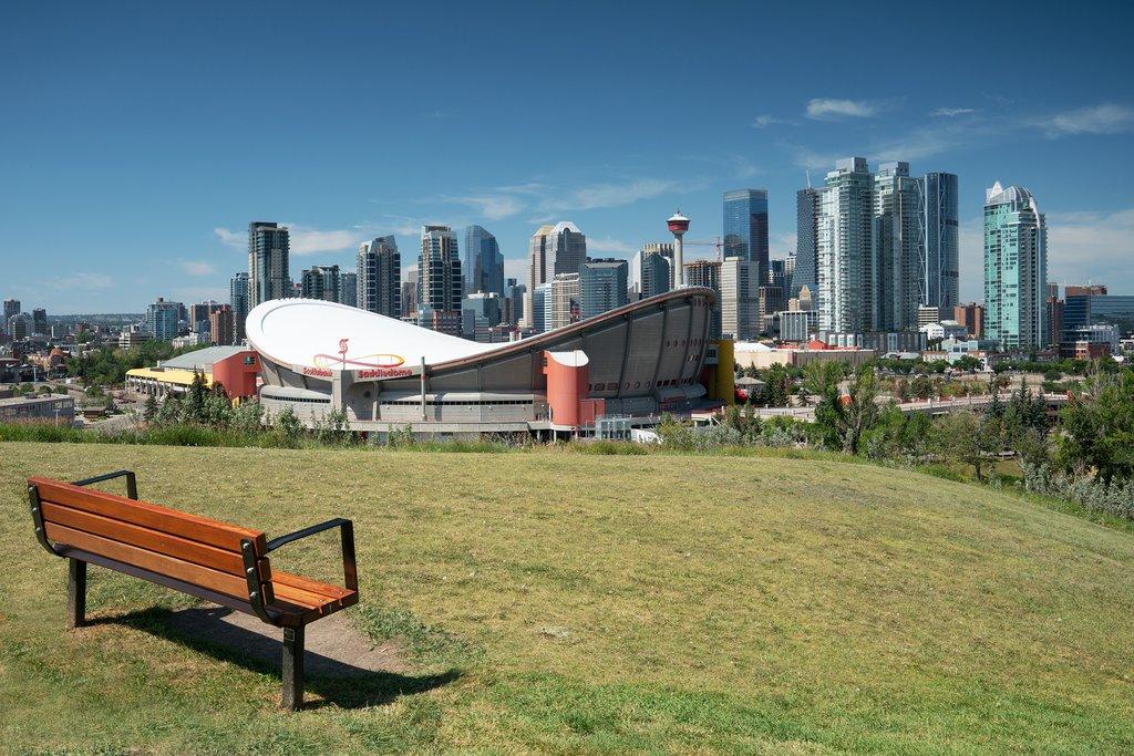 Quiet spot overlooking downtown Calgary