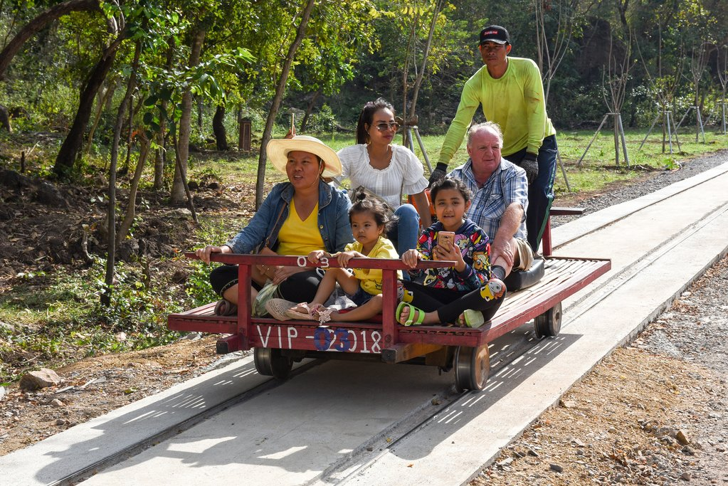 Take a ride on the Bamboo Train through the countryside