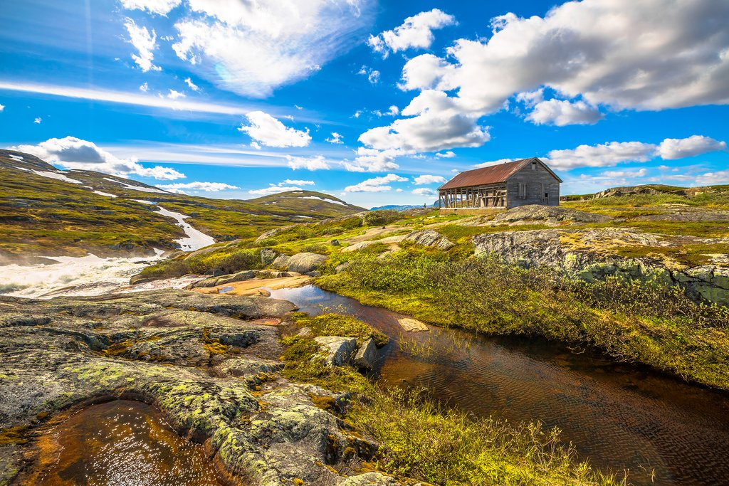 Picturesque highlands in the Geilo area
