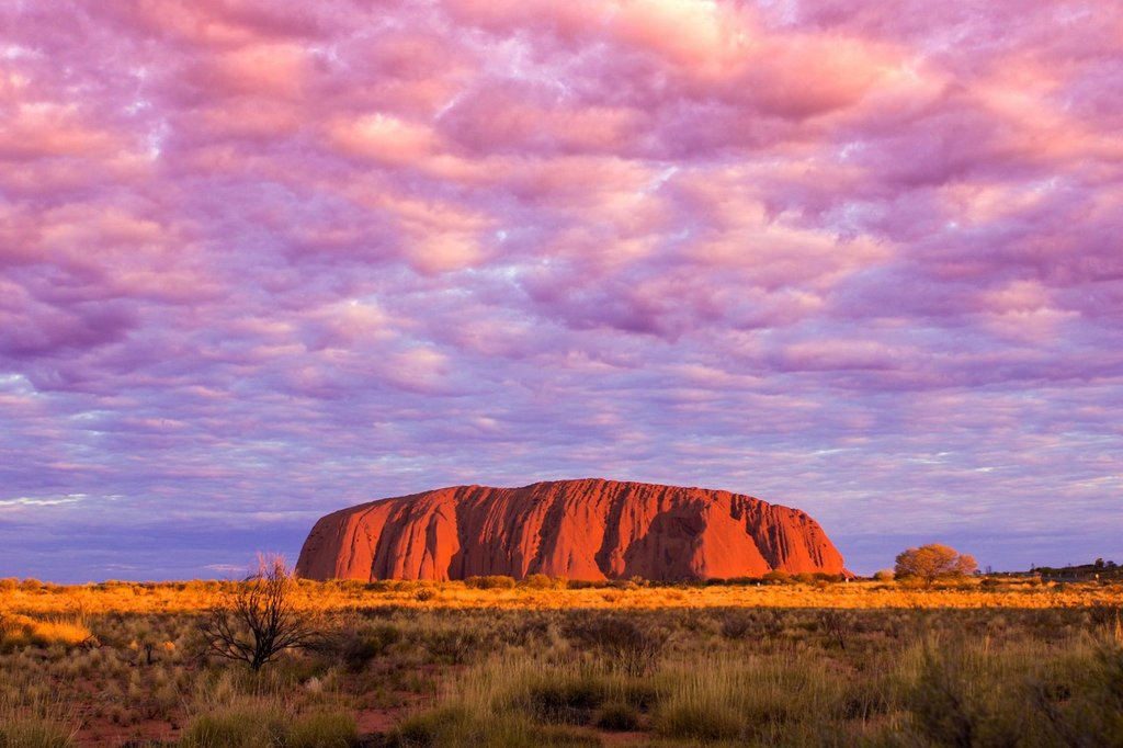 The magnificent sunset at Uluru